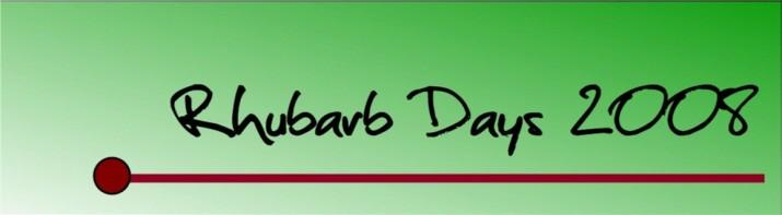 rhubarb-days