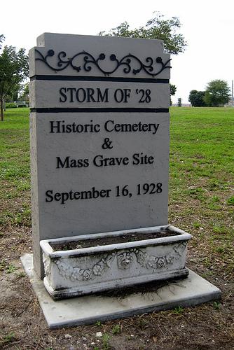 Hurricane Mass Grave Marker