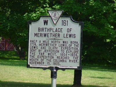 Meriwether's birth place plaque