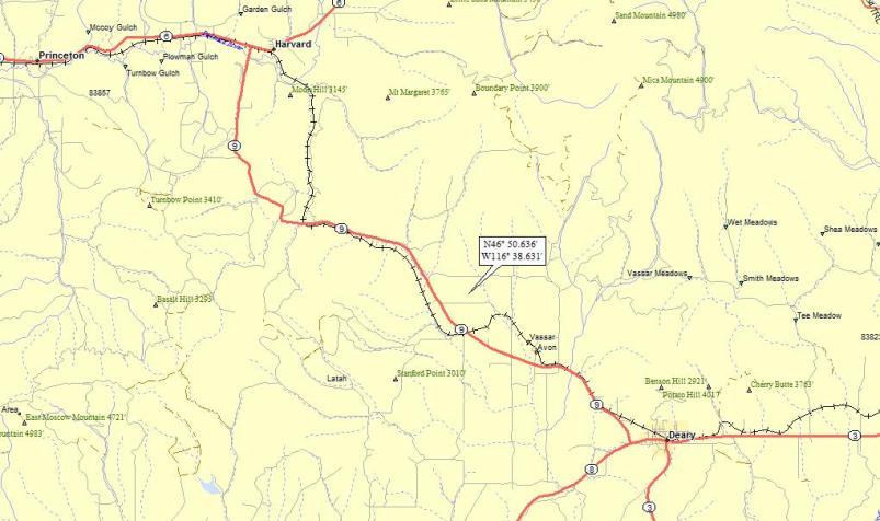 Potlatch Idaho Map.Potlatch River A Landing A Day