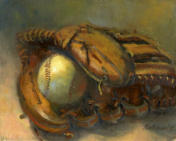 Baseball Glove Painting : Shafter california « a landing day