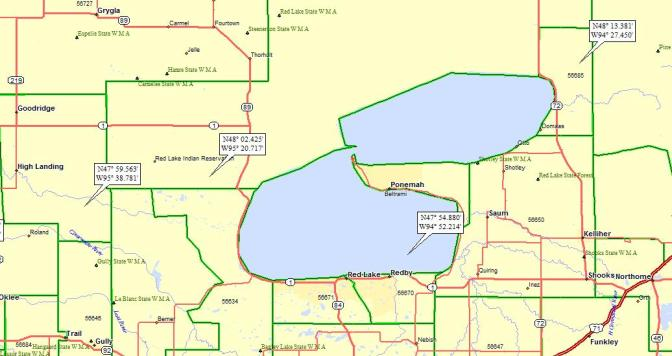 Red Lake Minnesota Map.Red Lake Mn A Landing A Day