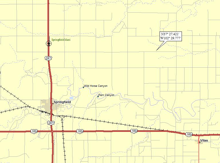 Springfield Colorado Map.Springfield Colorado A Landing A Day