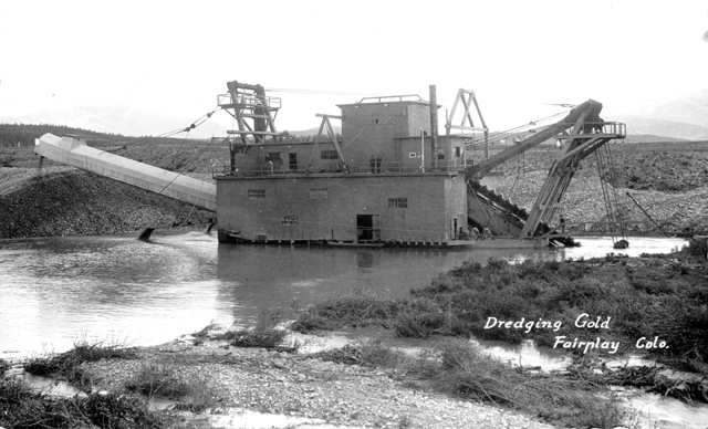 dredging for gold at fairplay