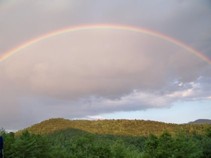 rainbow from bullpasture mt