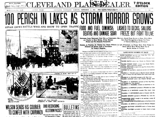 ... 12th CLEVELAND PLAIN DEALER, before the full loss of life was known