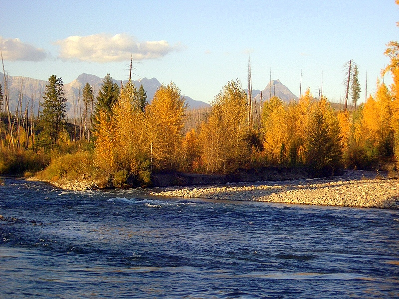 fall-on-the-n fk of the flathead-river-polebridge-montana
