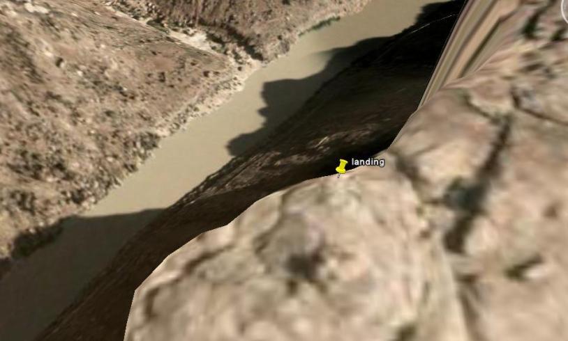 Google earth landing
