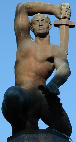Refugio Memorial close-up
