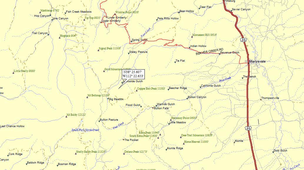 Marysvale Utah Map.Marysvale Utah A Landing A Day