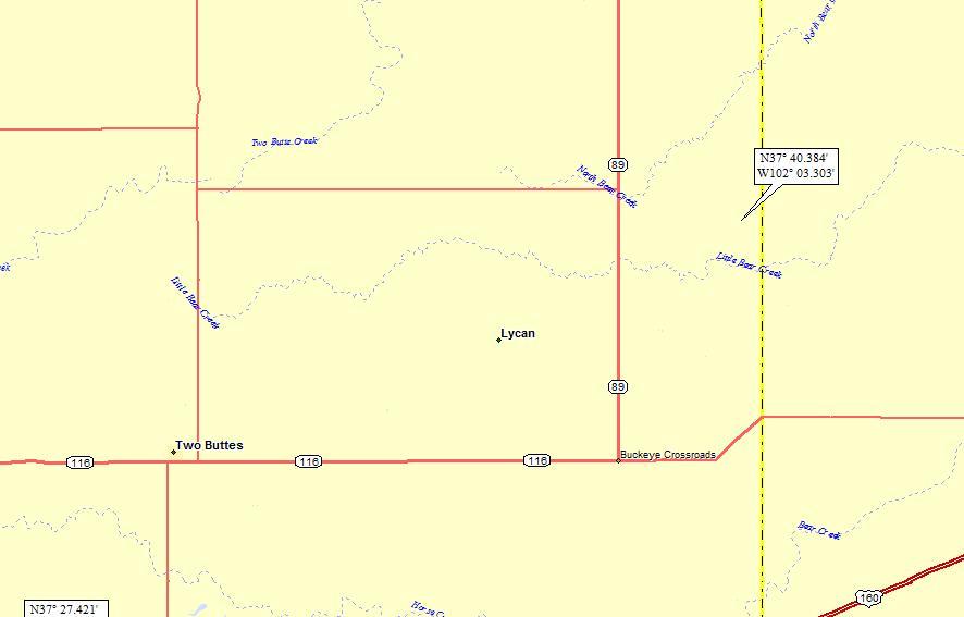 Se Colorado Map.Lycan Colorado A Landing A Day