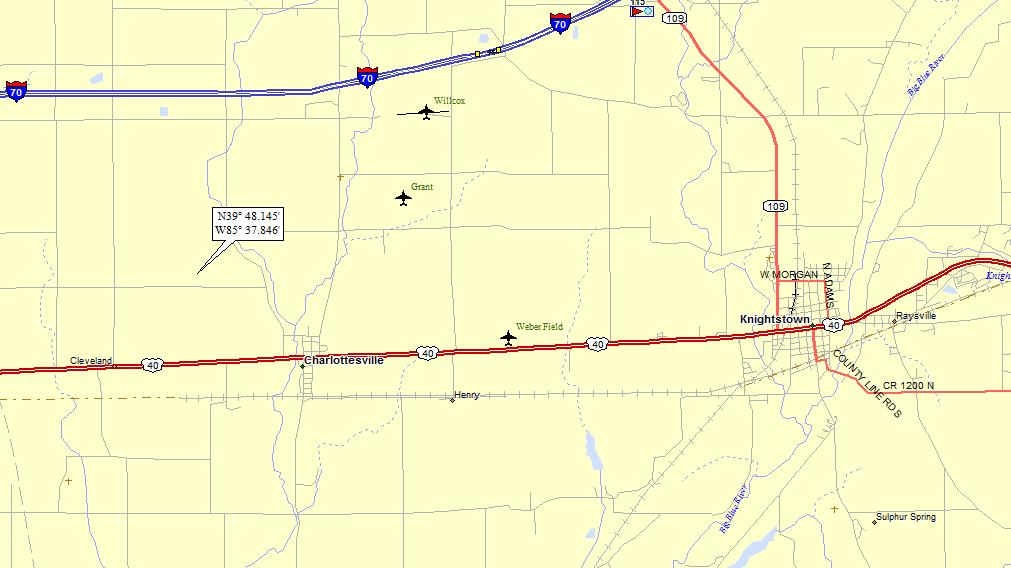 Knightstown Indiana Map.Knightstown Indiana A Landing A Day