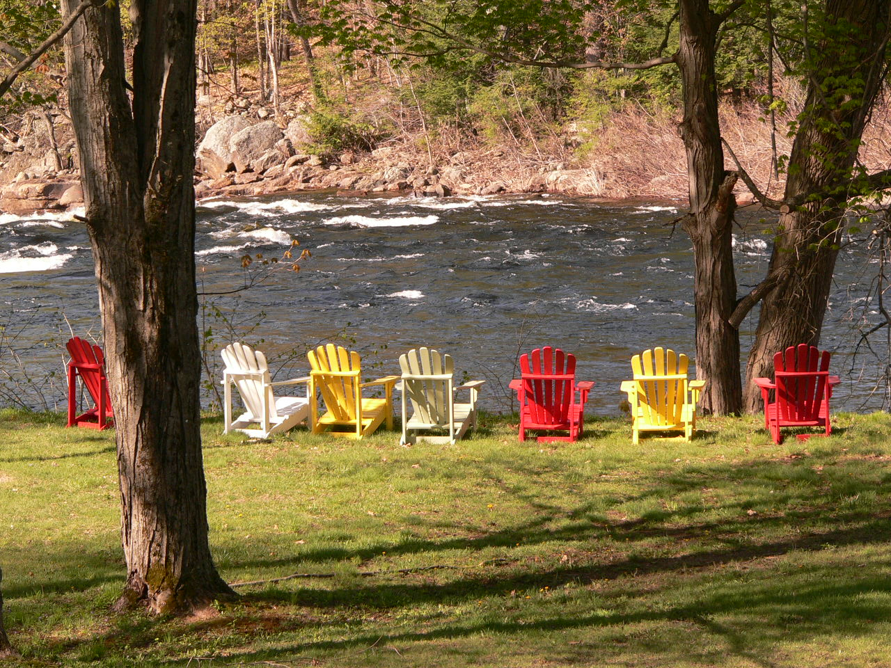 panaramio shot of the hudson with adirondack chairs at lake luzerne
