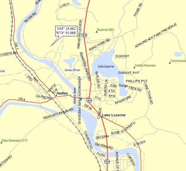 lake luzerne ny map Lake Luzerne New York A Landing A Day lake luzerne ny map
