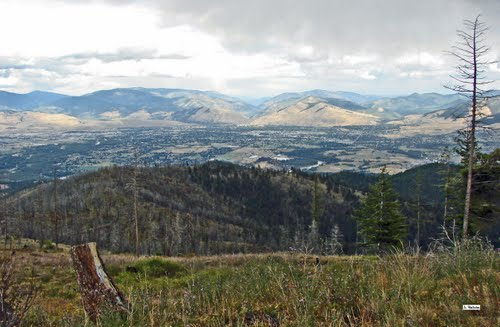 miss pano towards missoula from 1.5 mi s of landing by j. belote