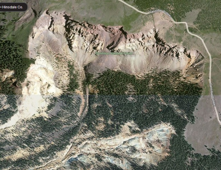 bing map landslide headwall