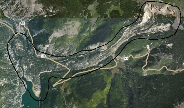 bing map landslide