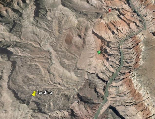 Green Spot:  Temple Butte Orange Spot:  Chuar Butte