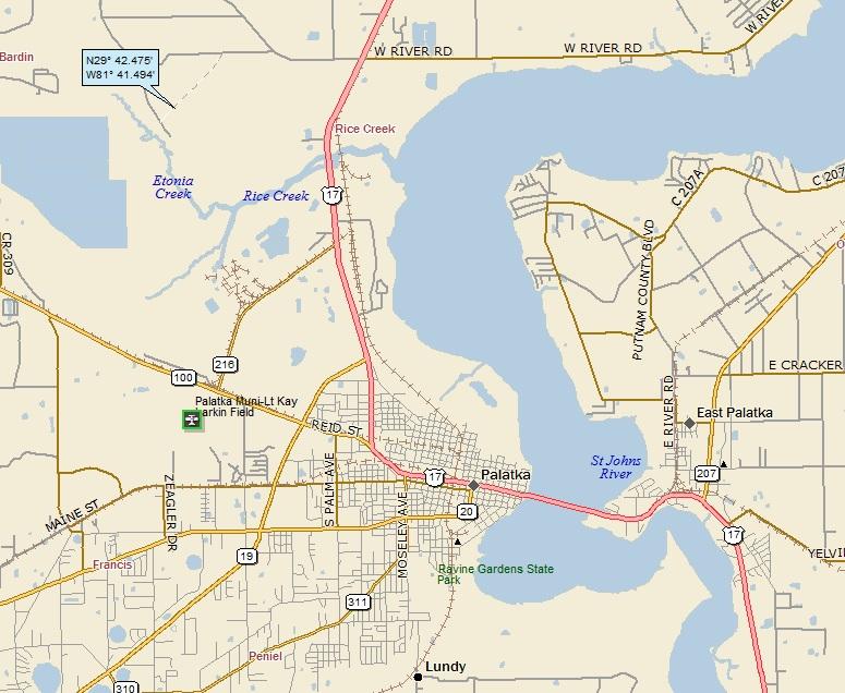 Palatka Florida Map.Palatka Florida A Landing A Day