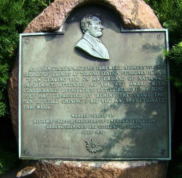 lincoln plaque
