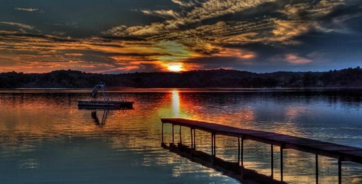 sunset on silver lake by juan234