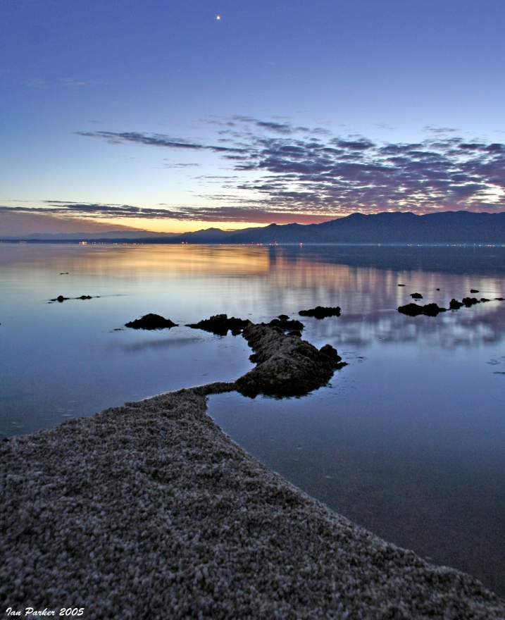 Venus over Salton Sea evanescent light