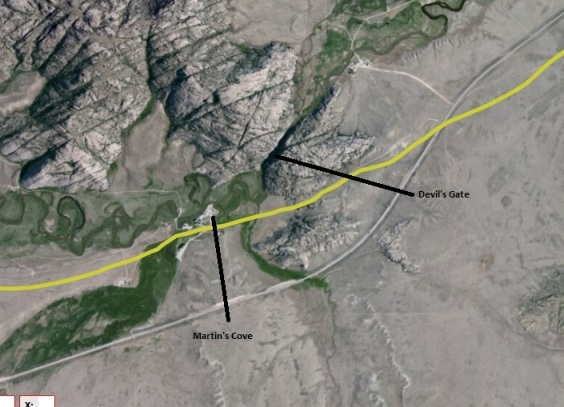 nps trail map 3 - martin's cove, devils gate