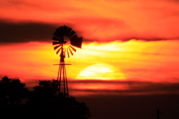 pano windmill and great ball of fire 3 mi ne by michael bilodeau