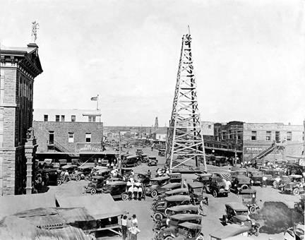oil rig 1920 ny times