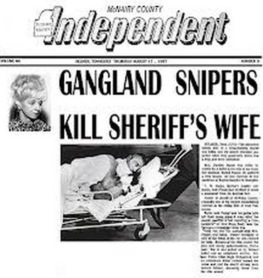 newspaper headline about mrs pusser