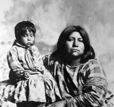 goshute mother & child from I Love History.Utah.gov