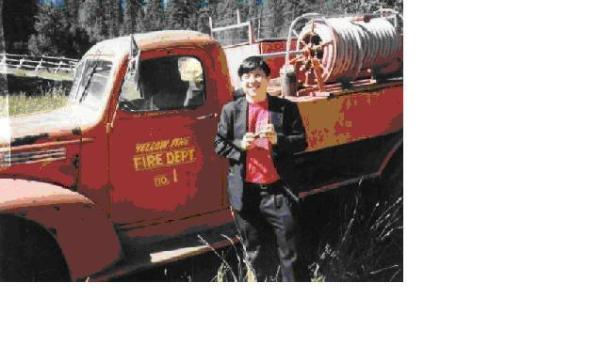 old post firetruck