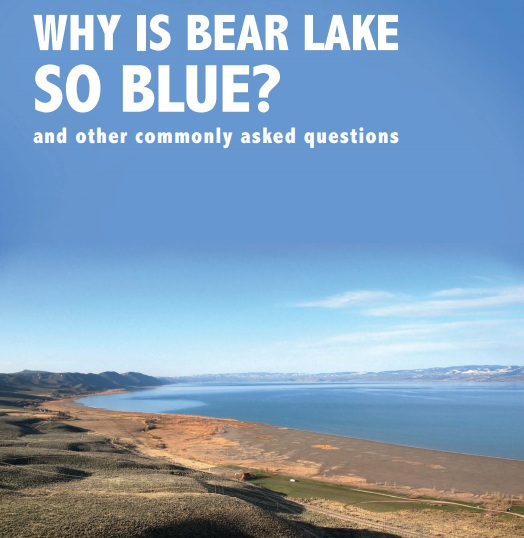 why is bear lake so blue utah.gov