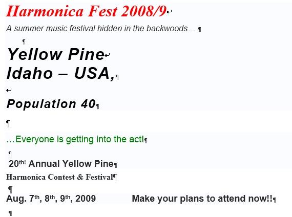 yellow pine