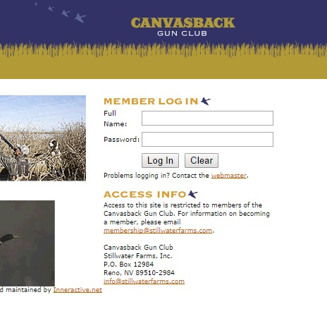 canvasback gun club website stillwater farms