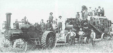 herried - a threshing crew germans from russia ndsu