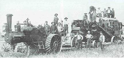 herried - a threshing crew germans from russia ndsu