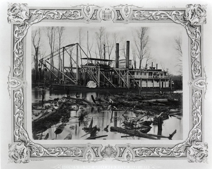 1873 snag boat on the raft library of congress