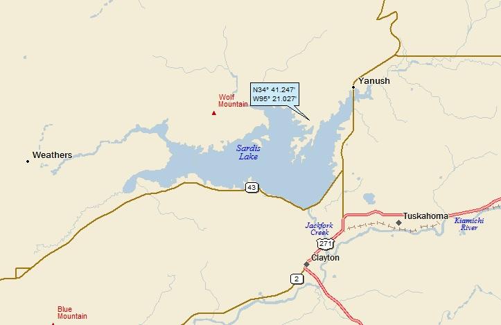 Mountains In Oklahoma Map.Sardis Lake And The Ouachita Mountains Oklahoma A Landing A Day
