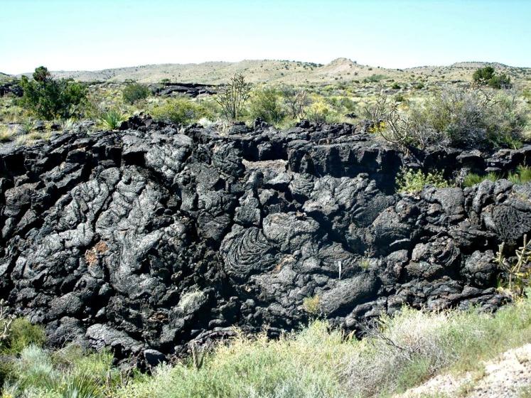 pano asphalt of the lava flow