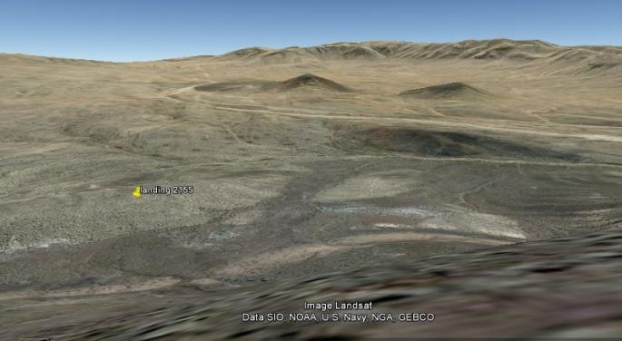GE Groundlevel view shot towards landing
