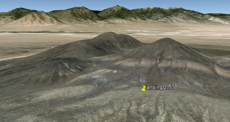 GE oblique looking west, smelter knolls