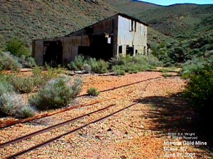 MorningGold mine, in the canyon above Midas.  D.A. Wright photo.