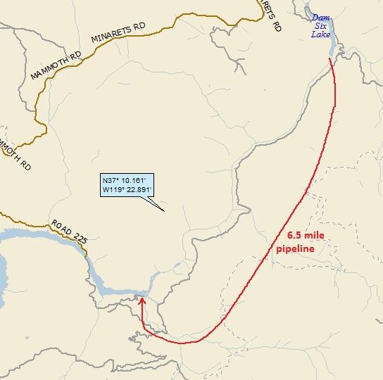 landing 5 water pipeline