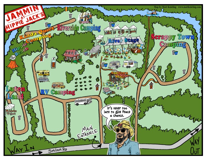 map of hippie jack's festival