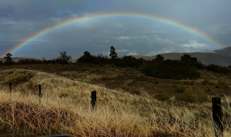 pano DouglasPage, rainbow over the fault