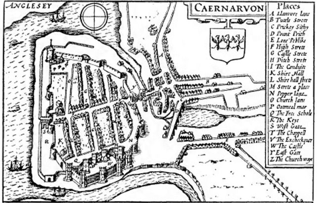 1610 map of the castle by John Speed