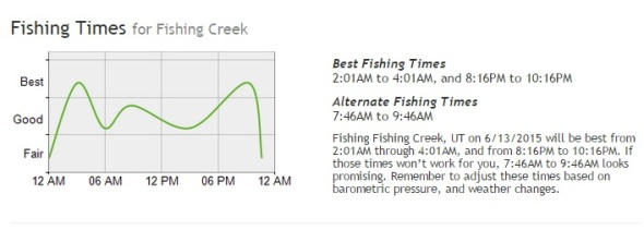 fishing creek best fishing times