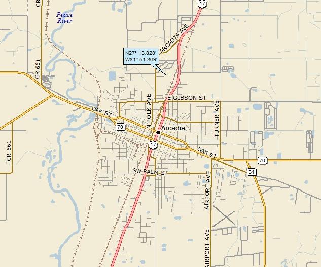 Arcadia Florida Map.Arcadia Florida A Landing A Day