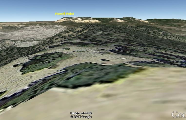 GE ground view towards powell peak